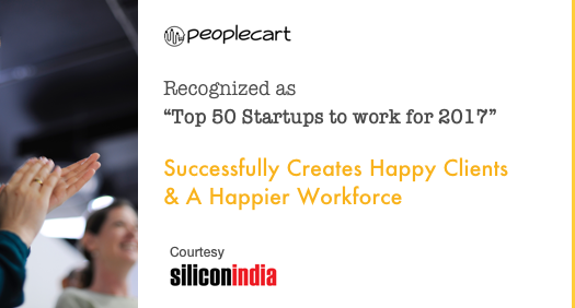 Peoplecart recognized as Top 50 Startups to work for 2017